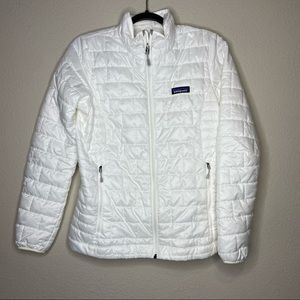 PATAGONIA White Nano Puff Jacket Small